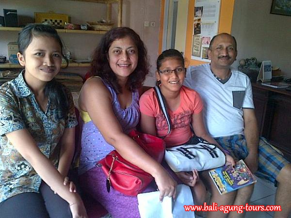 Mr Anil D and Family from Singapore