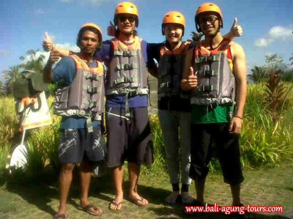 white river rafting in Bali