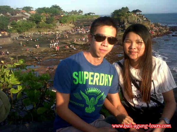 Tanah Lot Temple with Ms. Yan from KL
