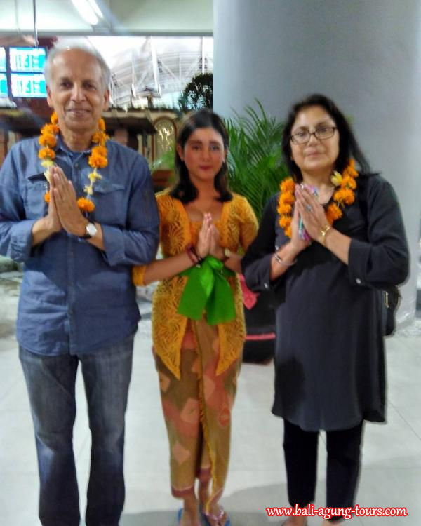 Welcome to Bali Dr Dilip and Sikha Sarkar from USA