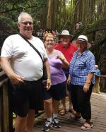 With Wayne and Friends from Canada at Ubud Monkey Forest