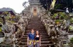 Jose and Jessica from Mexico at Kehen Temple